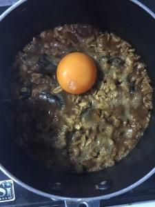 味噌オートミール卵黄身
