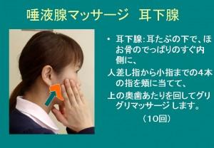 耳下腺唾液マッサージ