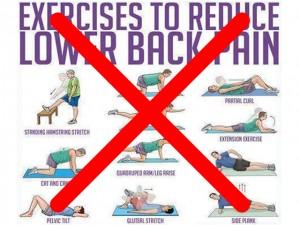 ギックリ腰悪化運動